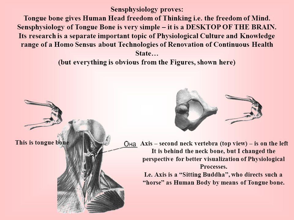 Sensphysiology proves: Tongue bone gives Human Head freedom of Thinking i.e.