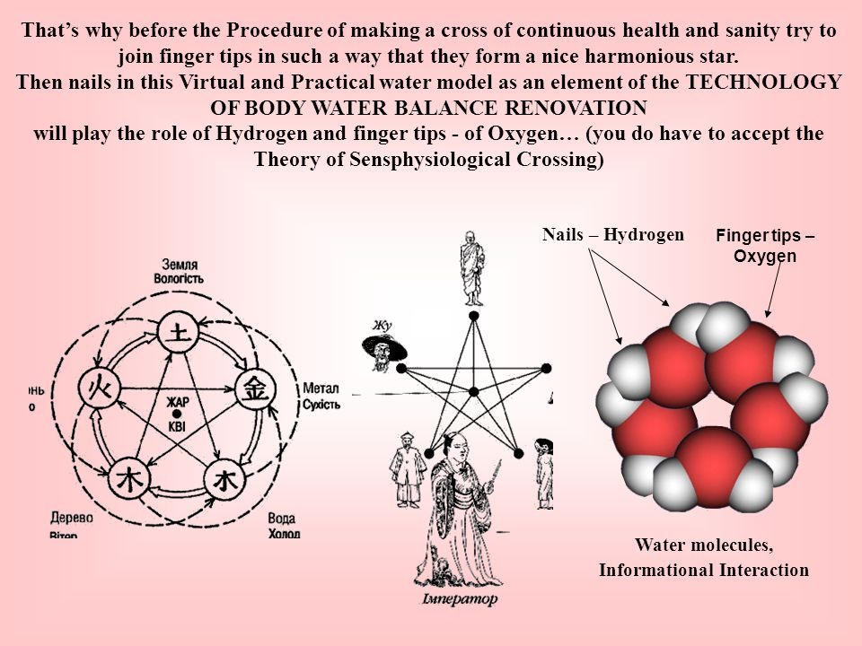 That's why before the Procedure of making a cross of continuous health and sanity try to join finger tips in such a way that they form a nice harmonious star.