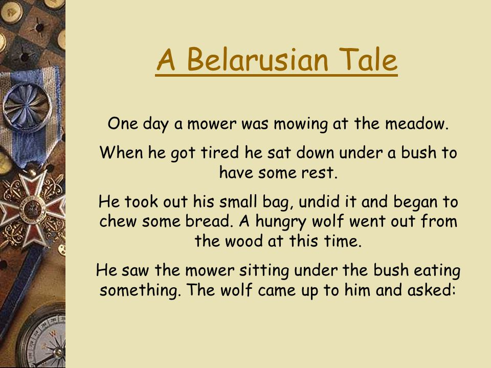 Traditional Stories from Belarus.