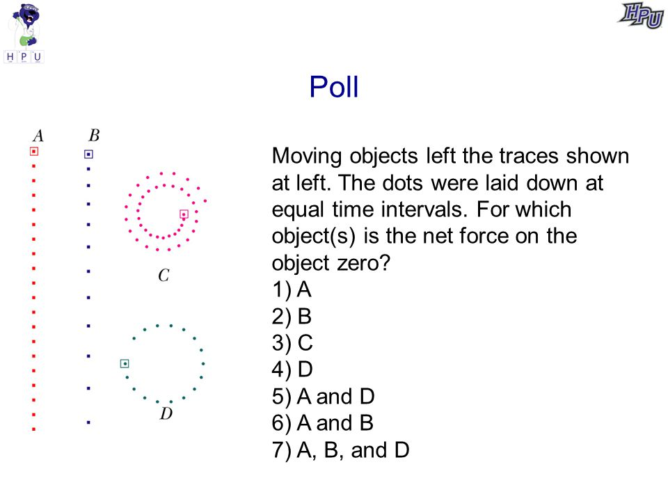 Poll Moving objects left the traces shown at left.
