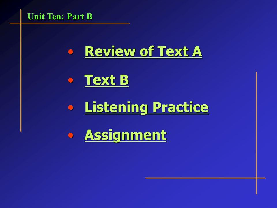 Unit 10 : Part B 21st Century College English: Book 1