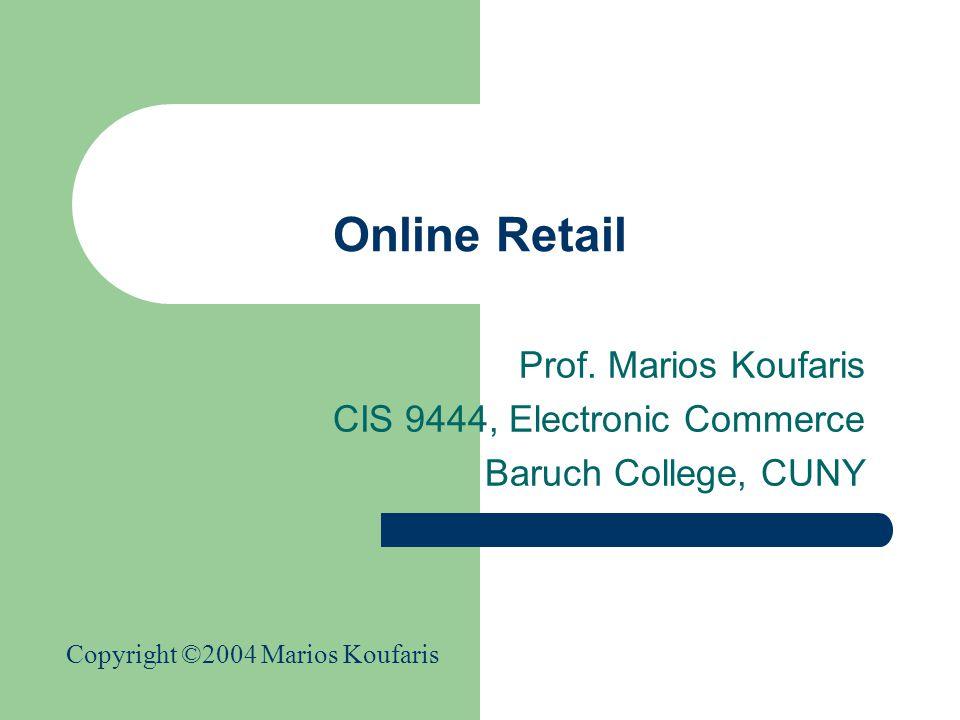 Online Retail Prof.