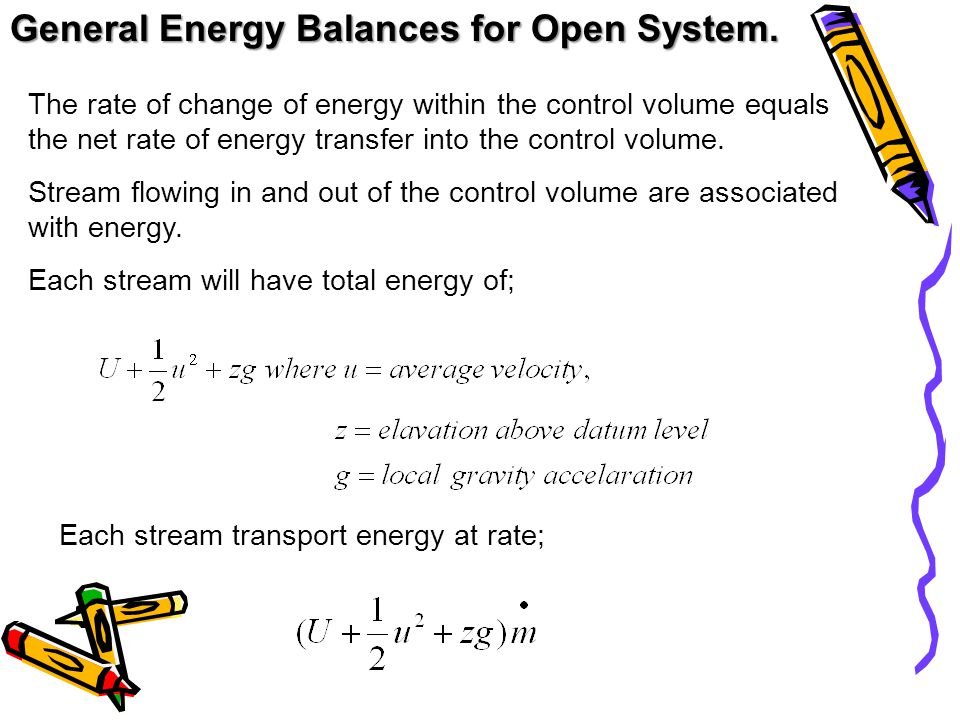 General Energy Balances for Open System.