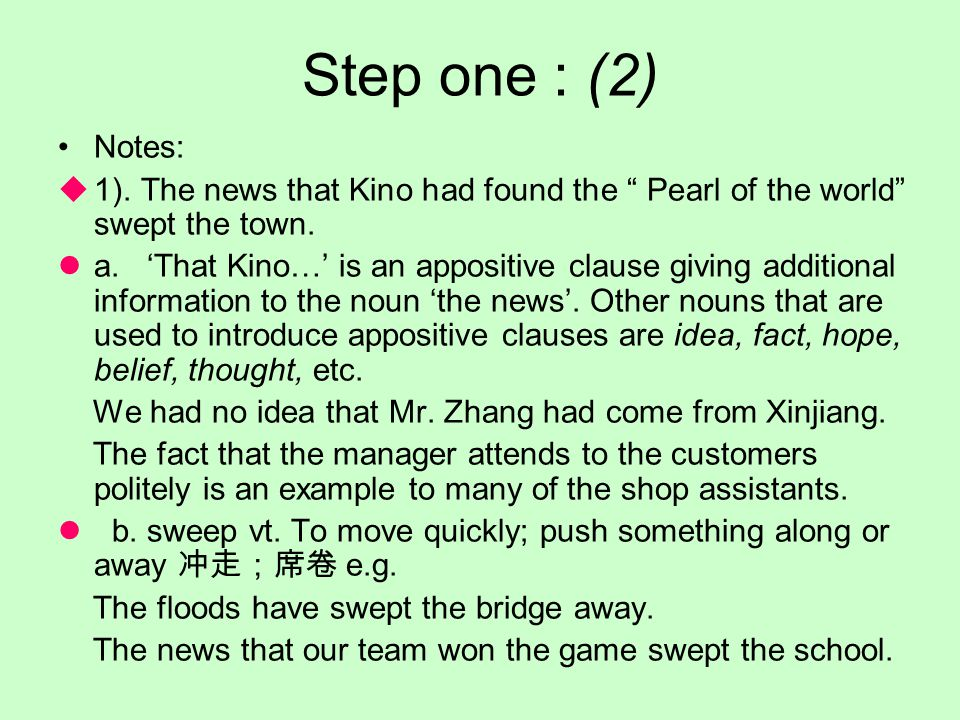 Step one: (1) 1. Reading the article in teams.