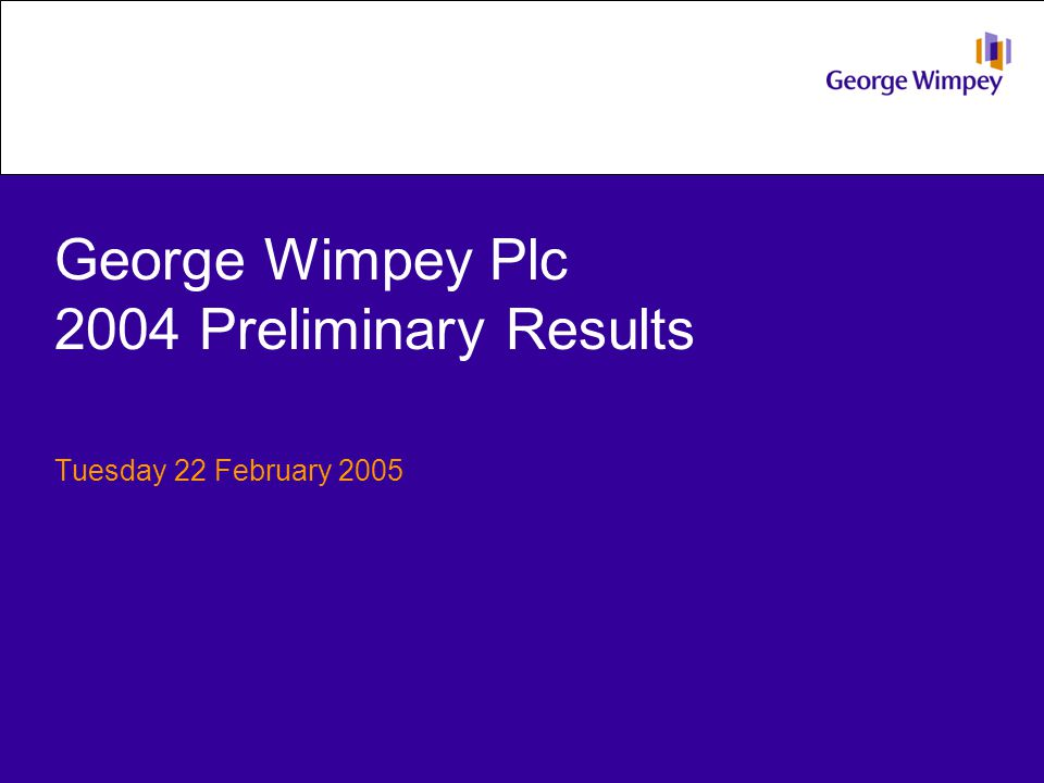 Financial summary George Wimpey 2004200320042003 Laing Homes Total completions Private completions Private ASP Turnover £m Operating profit £m Operating margin 11,12211,8131,1101,096 10,34511,228929975 £182,000£168,000£320,000£315,000 1,9761,933325337 365.8330.143.141.7 18.5%17.1%13.3%12.4% 22