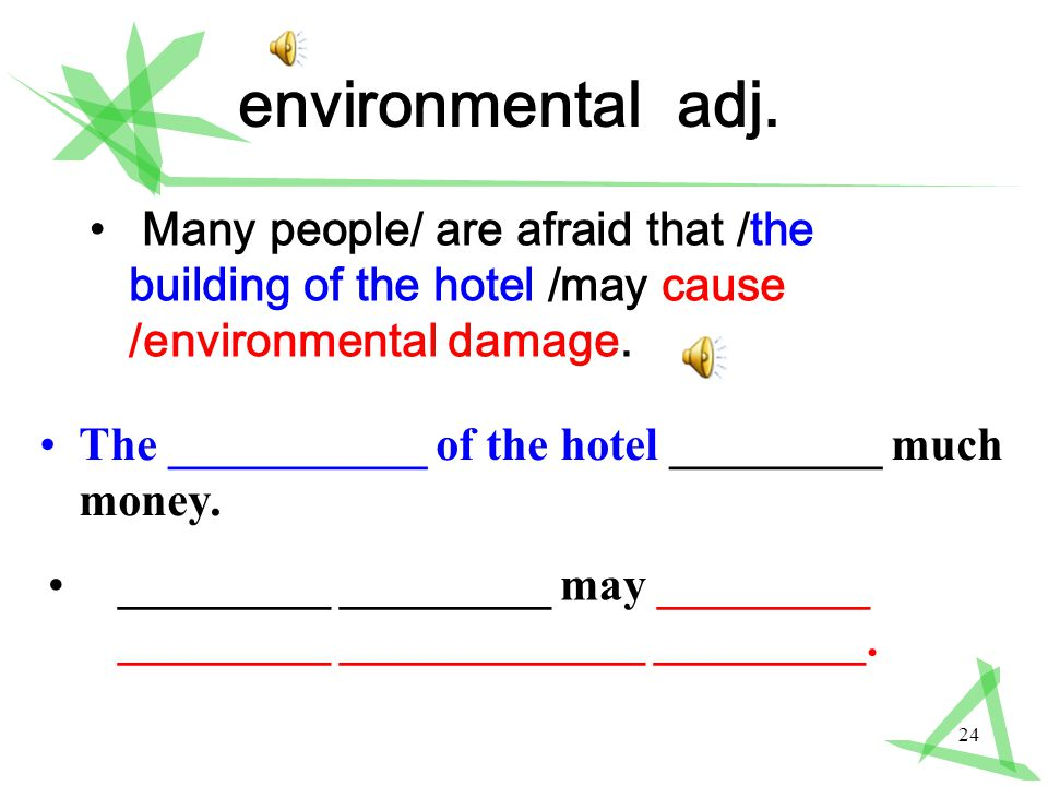 24 environmental adj.