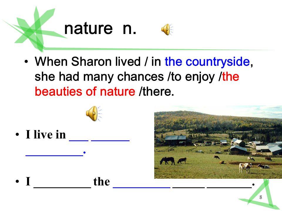 8 nature n.