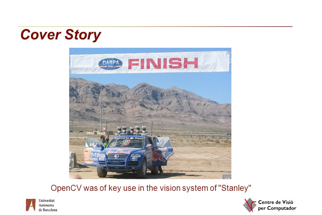 Cover Story OpenCV was of key use in the vision system of