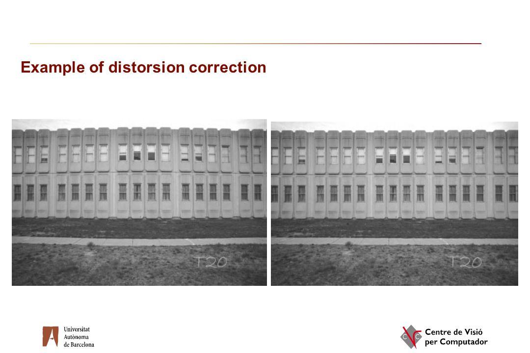 Example of distorsion correction