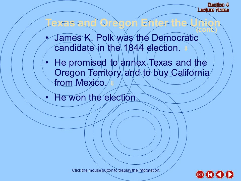 James K. Polk was the Democratic candidate in the 1844 election.