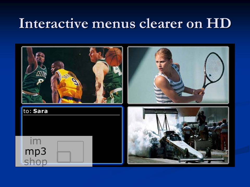Interactive menus clearer on HD