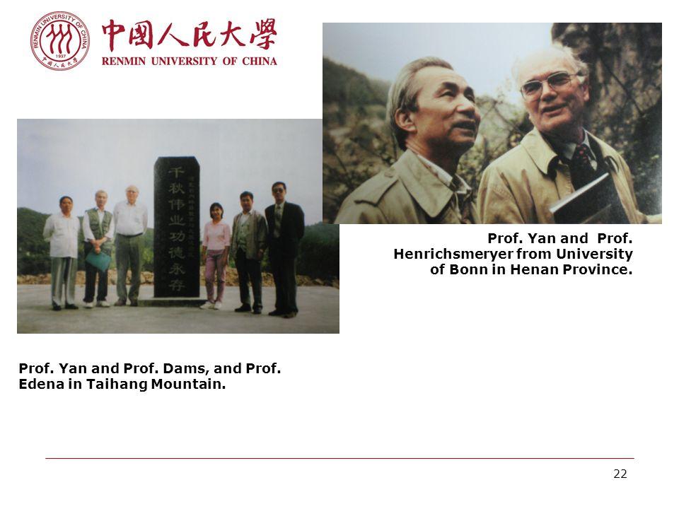 22 Prof. Yan and Prof. Henrichsmeryer from University of Bonn in Henan Province.