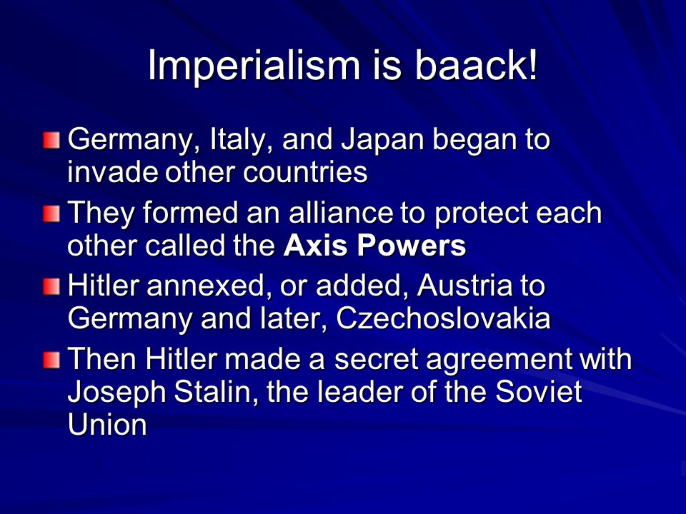 Imperialism is baack.