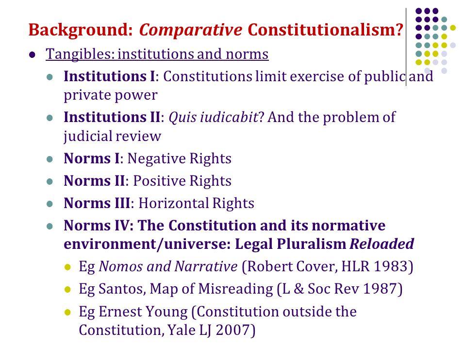 Background: Comparative Constitutionalism.