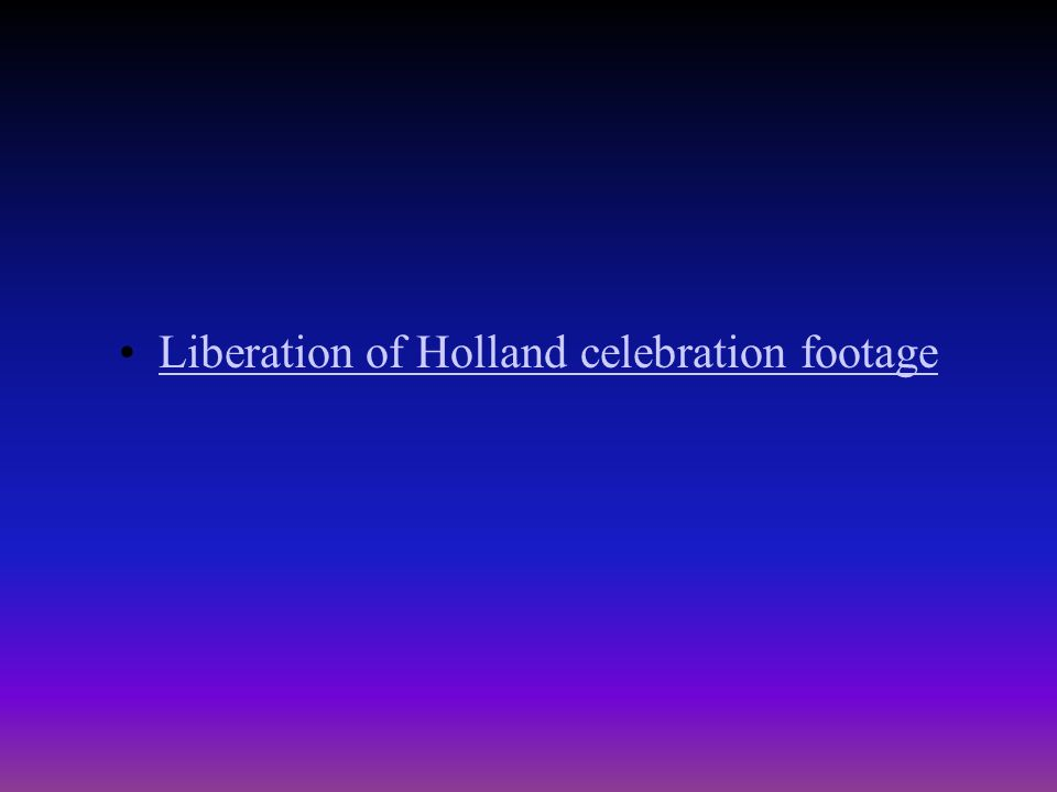 Liberation of the Netherlands Continued Fighting had to be called to a halt and negotiations were held to permit relief supplies to be sent into parts of the Netherlands which had been starved over the course of a winter known as the Hunger Winter .