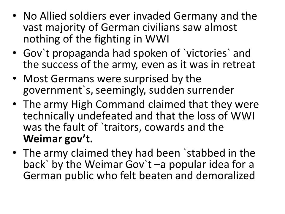 Problems in Post-WWI Germany The Treaty of Versailles Economic Problems The Great Depression Political Instability