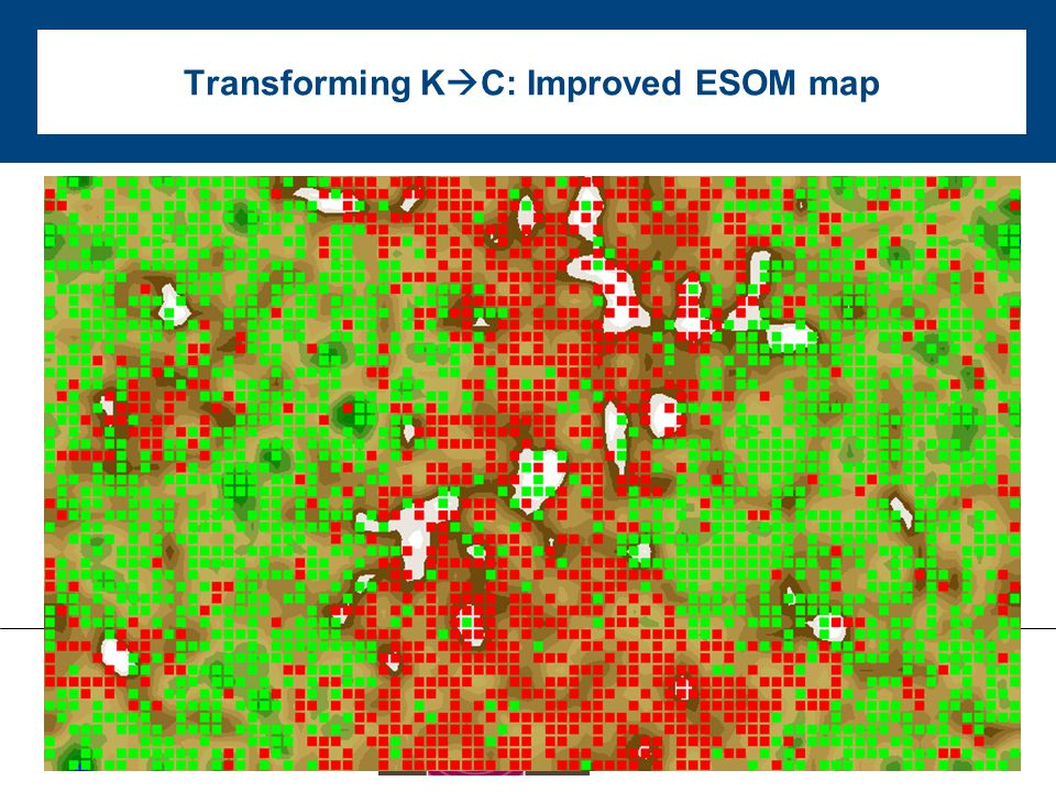 Transforming K  C: Improved ESOM map