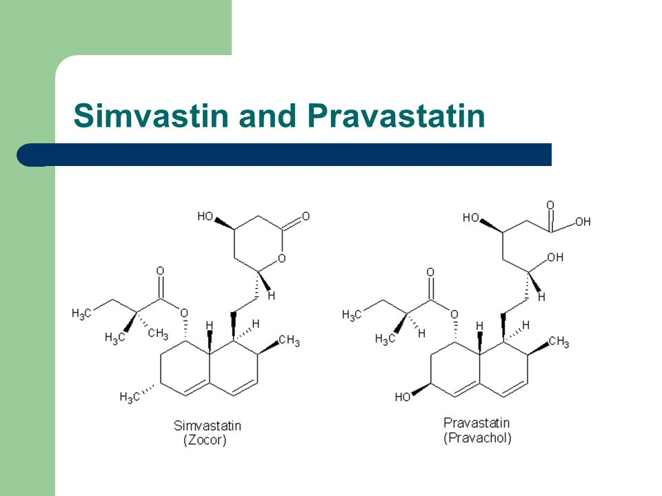 Simvastin and Pravastatin