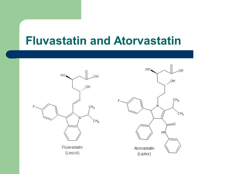 Fluvastatin and Atorvastatin