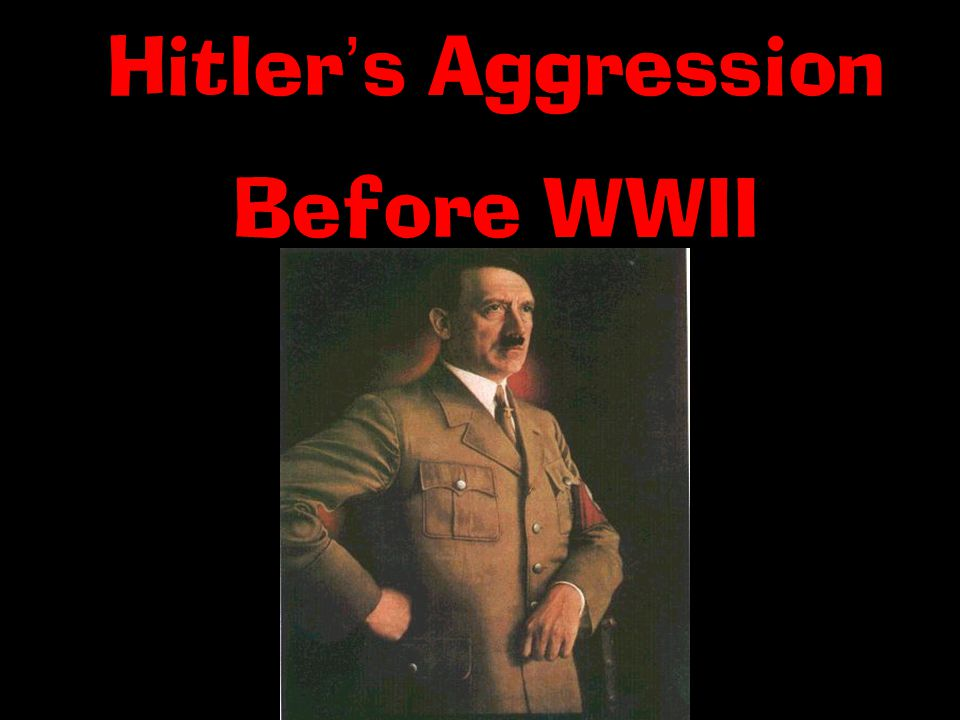 Hitler ' s Aggression Before WWII
