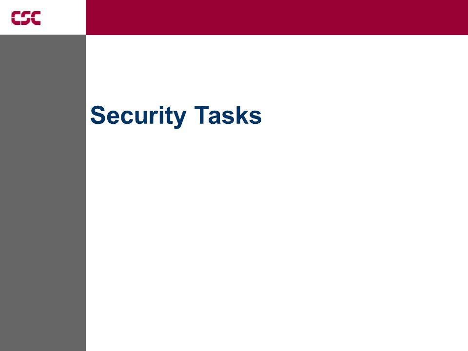 Security Tasks