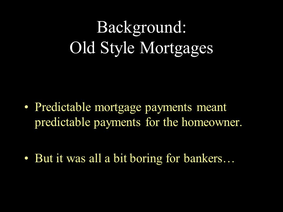 New Lending Industries There was also a tremendous change in home mortgage business, beginning in the late 1980's, and through the 1990's.