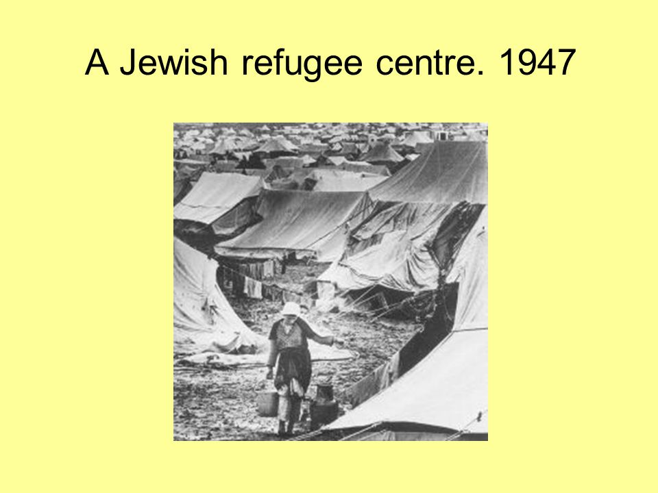 Jewish refugees arriving in Palestine.