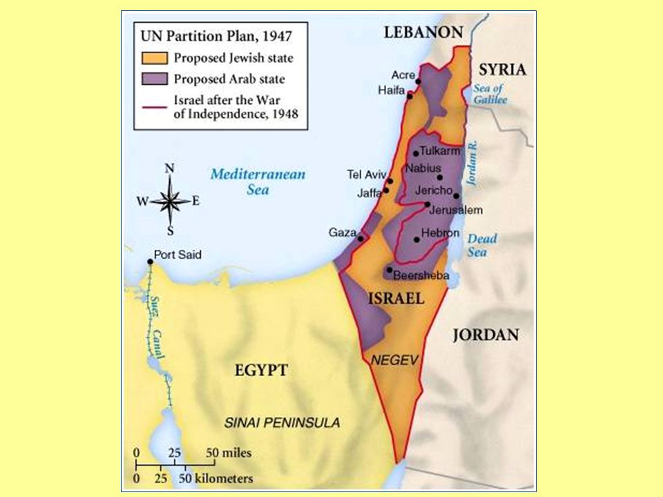 The UN Partition Plan In November 1947 the UN voted to partition Palestine. The Jewish State was to have 54% of the land, including the best land, eve