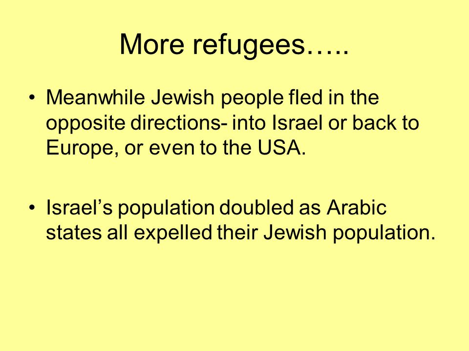 Palestinian Arab refugees. The seeds of years of future discontent ?