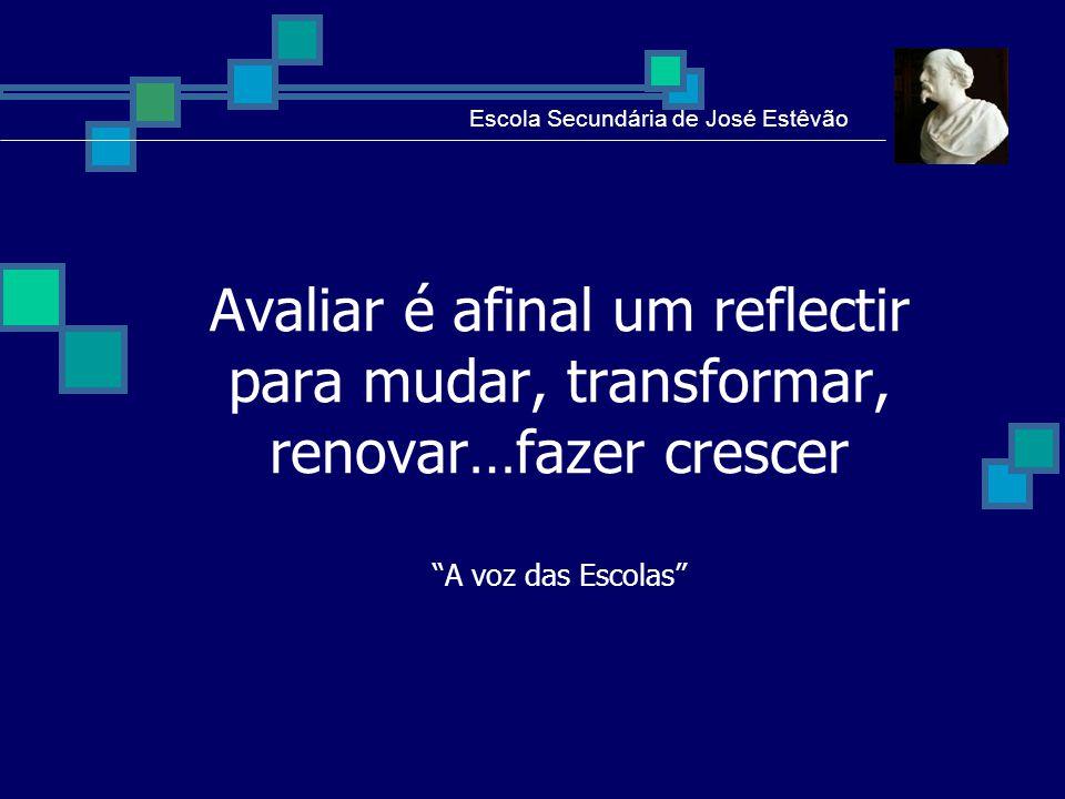 Escola Secundária de José Estêvão A brief conclusion: The sample taken for reflection is not significant concerning the whole school: ten teachers do not represent the 186 teachers of the school.