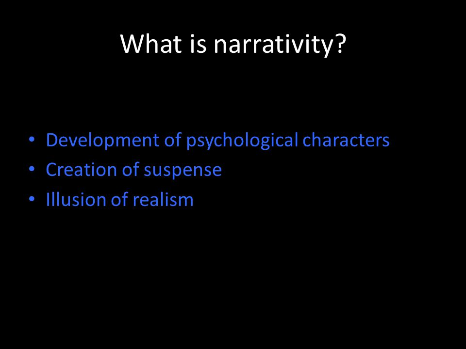 What is narrativity.