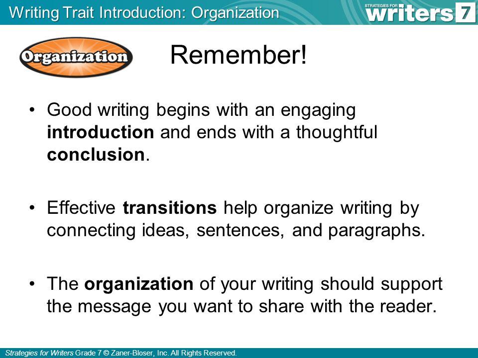 Strategies for Writers Grade 7 © Zaner-Bloser, Inc.