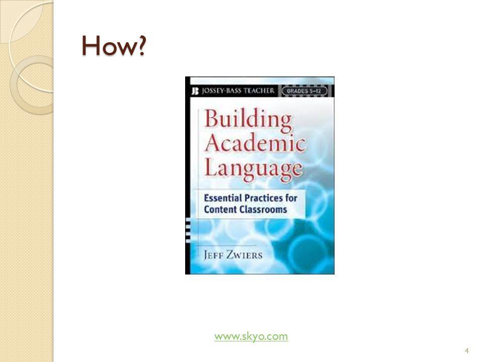 So what is academic language exactly.