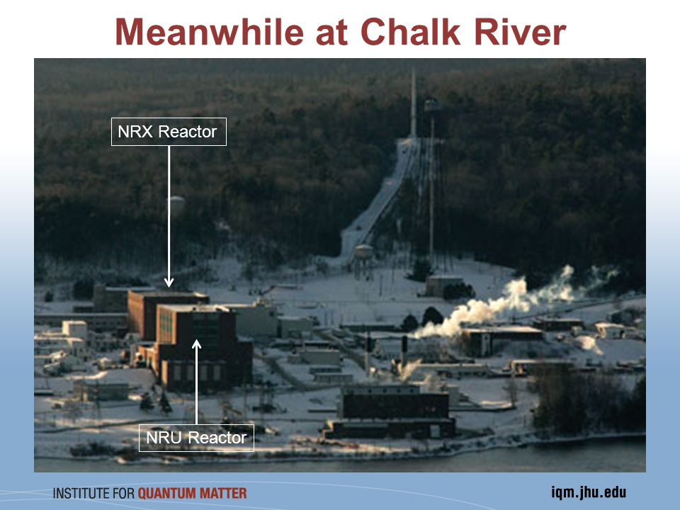 Meanwhile at Chalk River NRX Reactor NRU Reactor
