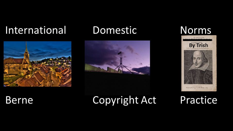 International DomesticNorms Berne Copyright Act Practice By Trish