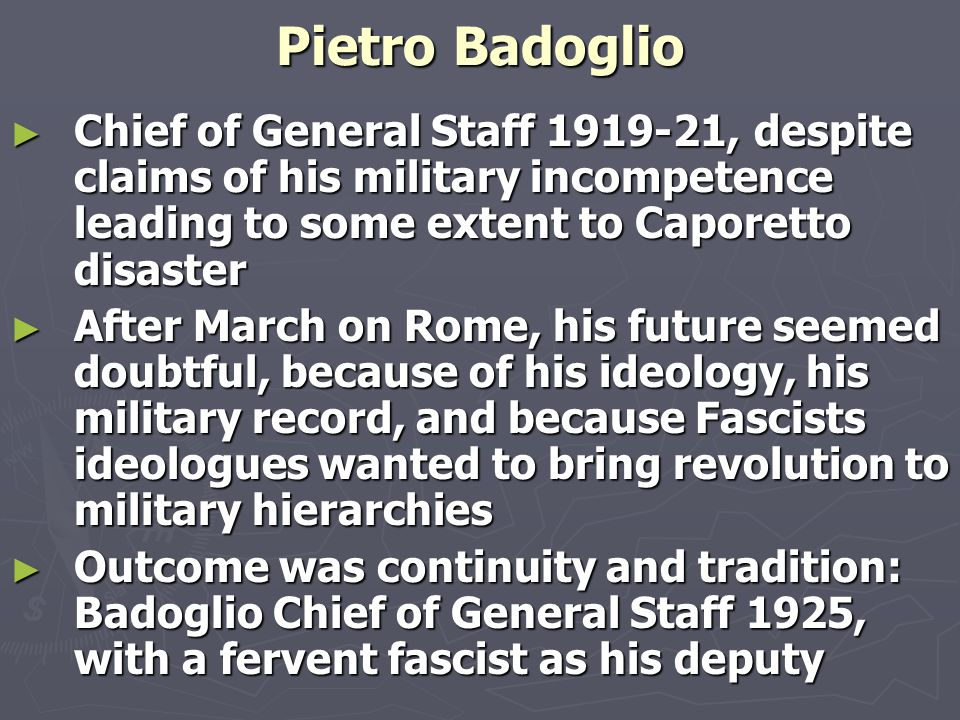Fascism ► More militant view of the world ► Paramilitary youth organisations as example of totalitarian achievement ► Education system to serve neither middle class, not proletarian truth, but rather national truth based on culture of people inspired by eternal values of Italian race and civilization ► Textbooks full of military culture