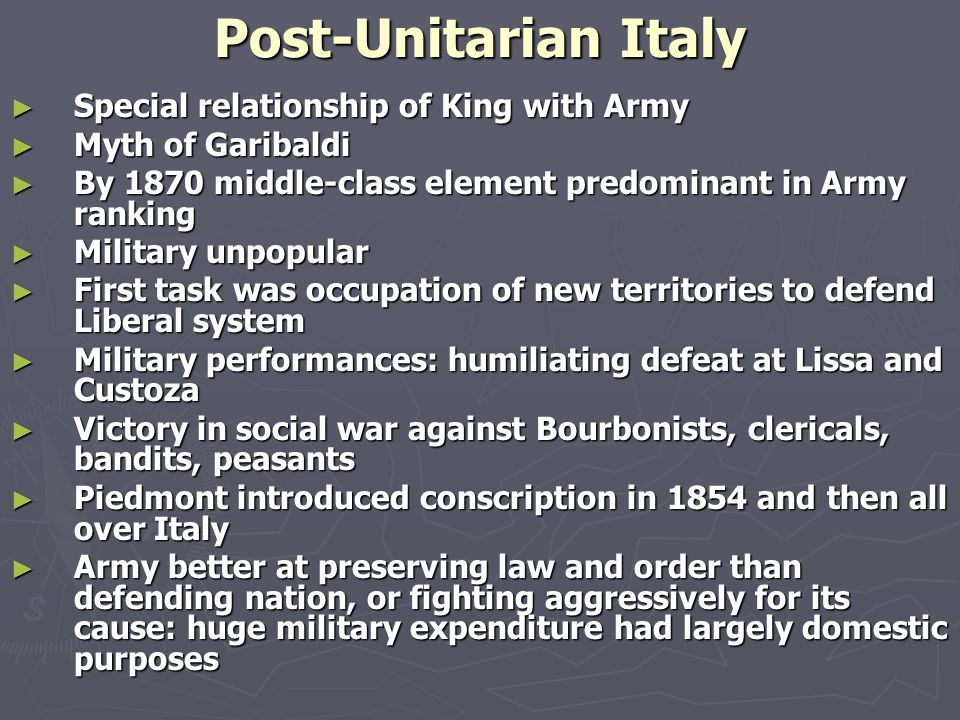 Prof. Bruno Pierri History of Italian Foreign Policy Italian Military Policy: A Historiographical Analysis, 1860- 1960 February 11th, 2015