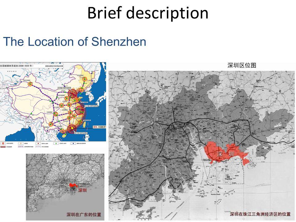 The Location of Shenzhen Brief description