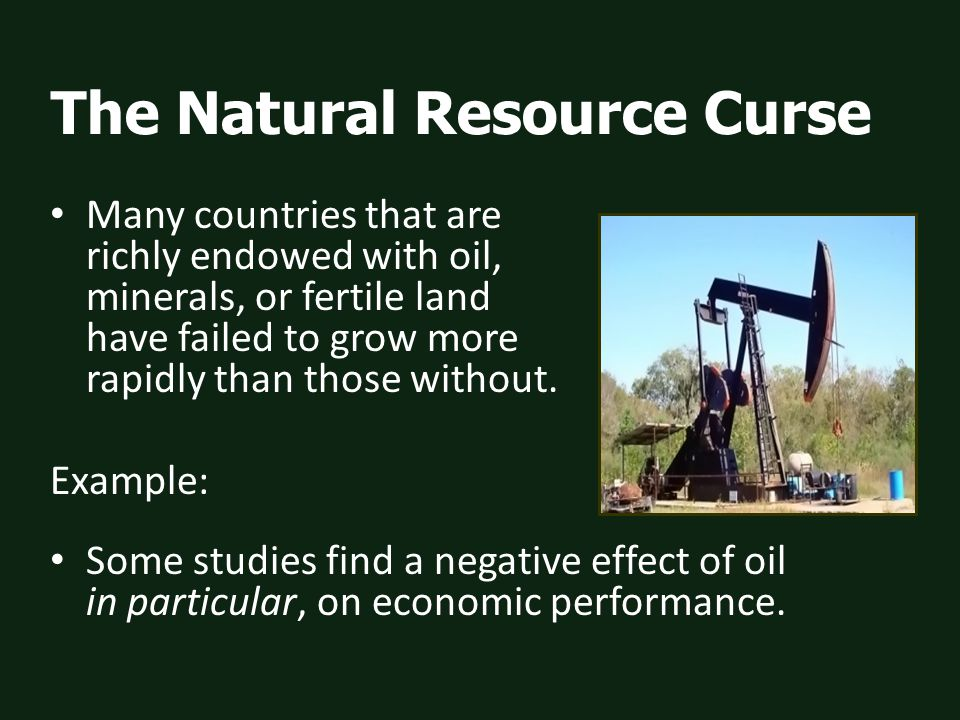 Resource nationalism continued 8) Keeping out foreign companies altogether.