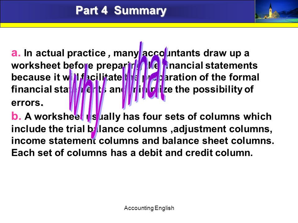 Accounting English Part 4 Summary.a.