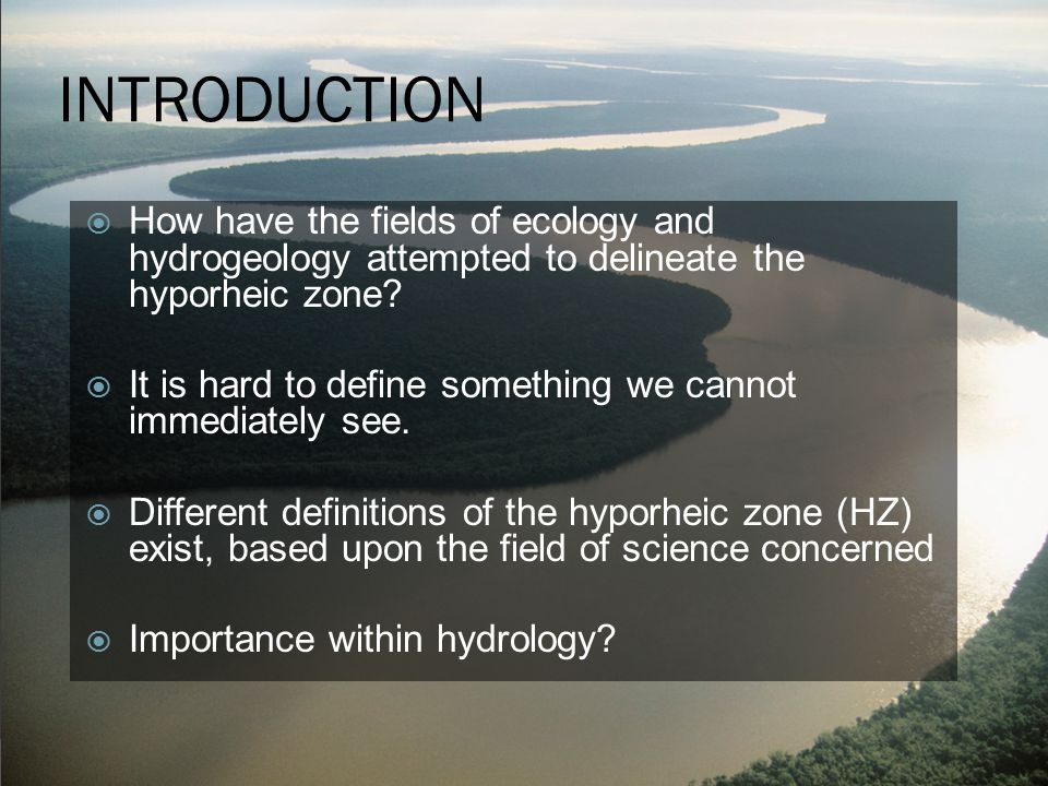 INTERCONNECTIVITY Hyporheic Zone Ecology Faunal Assemblage Residence Times Hydrogeology Groundwater- Surface Interactions Interconnected Processes Physical Properties