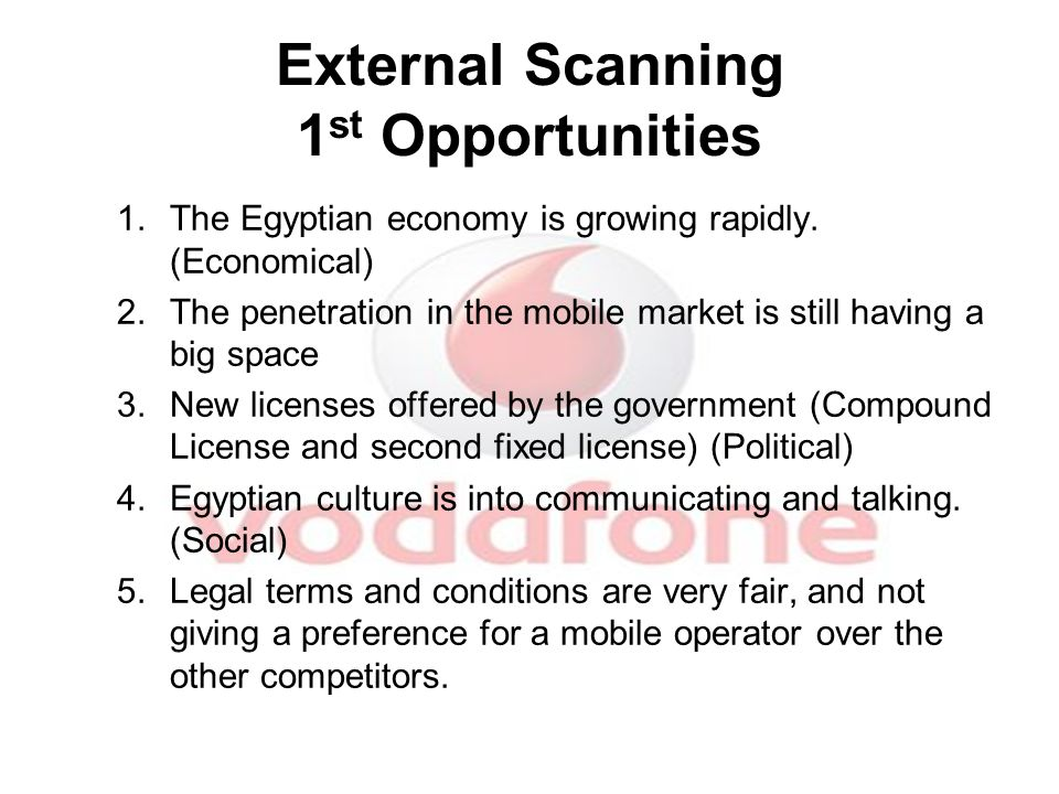 2 nd Threats 1.Entering of Etisalat to market which will occupy part of the market share as well as the revenue.