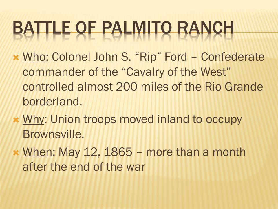  Who: Colonel John S.