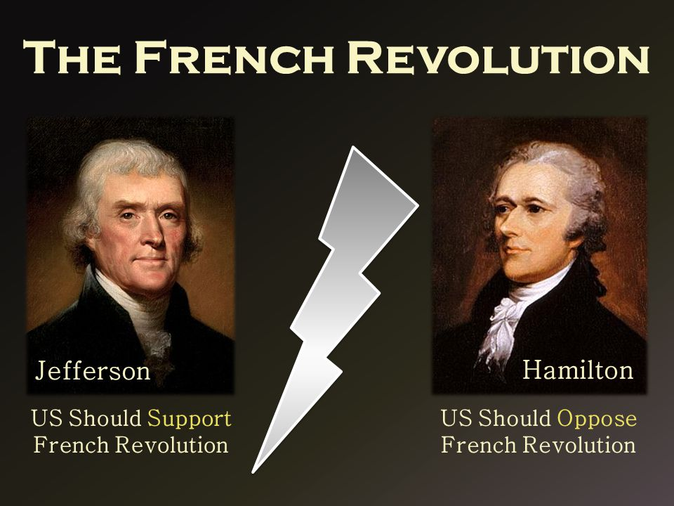 The French Revolution Hamilton Jefferson US Should Support French Revolution US Should Oppose French Revolution