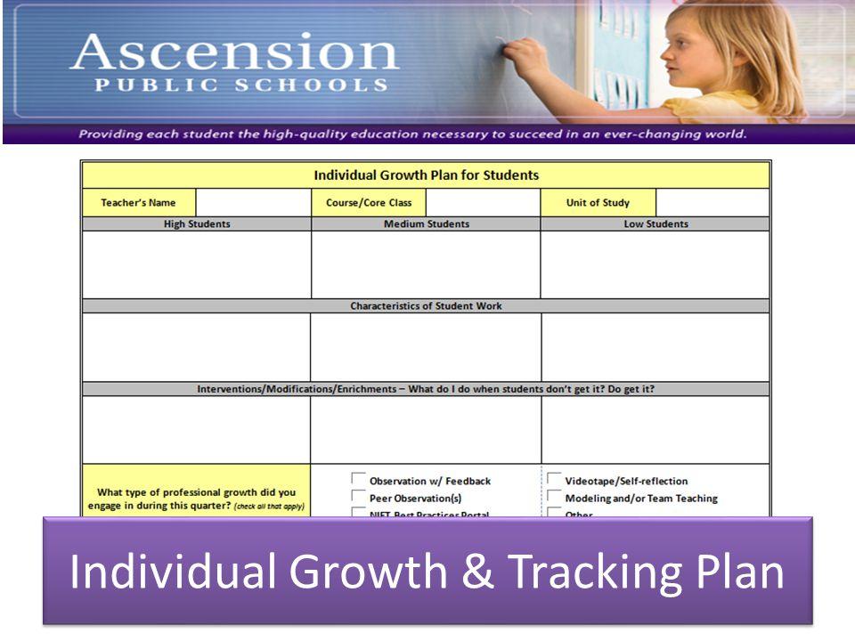 Individual Growth & Tracking Plan