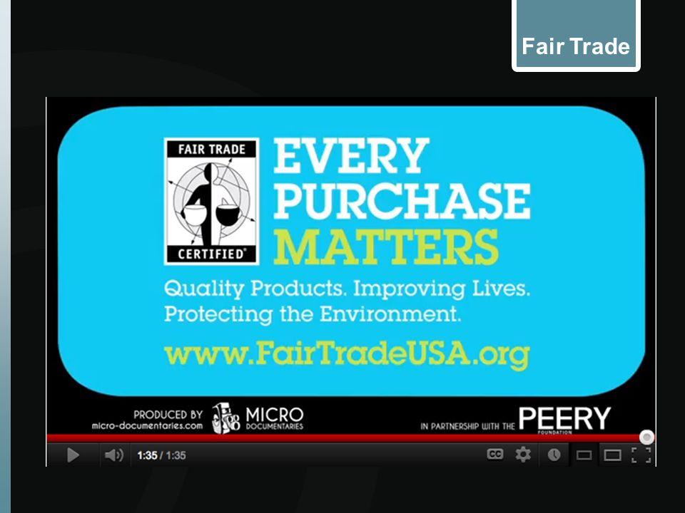 FAIR TRADE: Fair Trade Farmers can plan for the long-term.