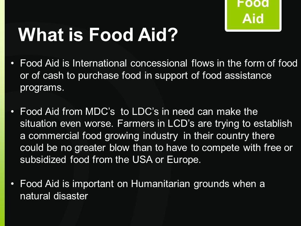 FOOD AID Food Aid