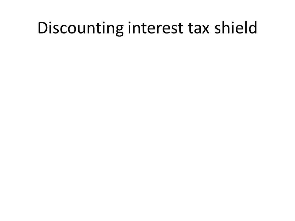Discounting interest tax shield