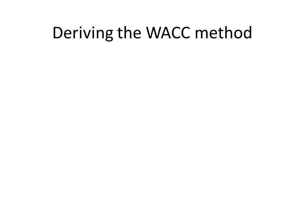 Deriving the WACC method