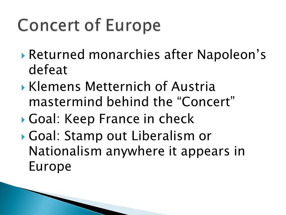  Decembrists- Russia  Spain/Portugal  Greeks/ Serbia